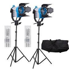FSKIT150A 2 x 150W Fresnel wolfraam Video continue verlichting 300W SPOT LIGHT P