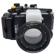 40M Underwater Waterproof Housing Diving Case for Sony RX100 IV Mark 4 Camera