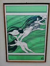 From Fishblood by Gustav Klimt  ED912 Poster serie Erothica n. 2 1968 70x50 cm