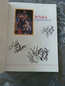WNBA Lot with 7 Players Autographs Newspapers Mags Program Cards Misc Things WoW