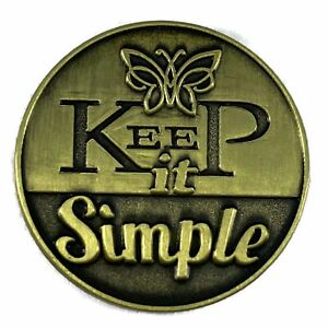 Keep it Simple AA/NA Bronze Recovery Medallion
