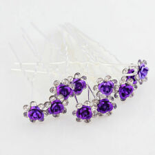 Accessori da sposa viola in cristallo