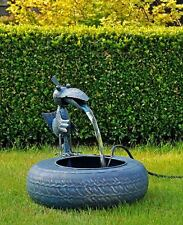 Metal Fun Spring Bird Sculpture Water Fountain Garden Feature