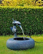 Metal Fun Spring Bird Sculpture Water Fountain Garden Feature