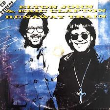 Elton John & Eric Clapton CD Single Runaway Train - Europe (G/G)