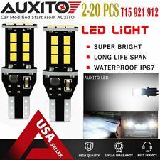 Lot 2-20 PC Backup Reverse Lights 921 912 T15 LED 6000K White Bulb 1200LM 15E EA