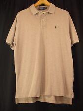 Polo Ralph Lauren Pique Mesh Brown Polo Short Sleeve Shirt XL Brown Pony