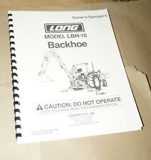 1998 Long Model LBH-10 Backhoe Owner's Operator's Manual P/N 751356