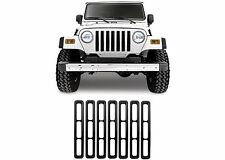 7pc Matte Black Grill Inserts For 1987-1995 Jeep Wrangler YJ New Free Shipping