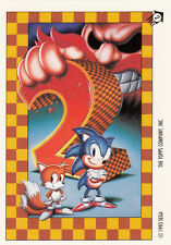 1993 TOPPS SONIC THE HEDGEHOG STICKER CARD #2 SONIC 2