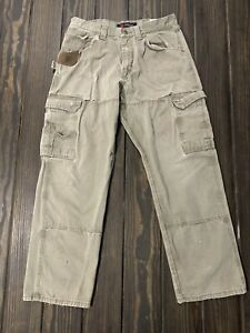Wrangler Riggs Workwear Ripstop  Pants 30x34 3W020BR Thrashed Rips Torn