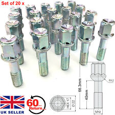 20 x ALLOY WHEEL BOLTS FOR MERCEDES BENZ C-CLASS (1993-07) W202 W203 NUTS