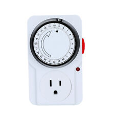 Indoor 24-Hour Plug in Mechanical Programmable Electric Outlet Timer Grounded