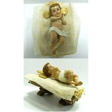 Gesù Bambino con Culla Cm 8x13x8 - Bimbo Mangiatoia Natività Pastori Presepe