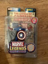 Marvel Legends Captain America Series 1 2002 Toy Biz Action Figure w/ Comic Book