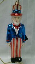 American Celebration Polonaise Ornament Uncle Sam Hand Blown Glass Christmas