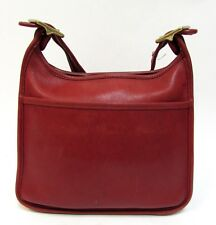 Authentic Vintage Coach Red Leather Legacy Shoulder Purse Bag 9966 RARE