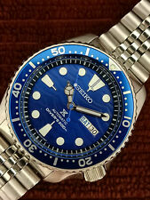 LOVELY SAVE THE OCEAN MOD SEIKO 7S26-0020 SKX007 AUTOMATIC MENS WATCH 731711