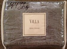 Noble Excellence Villa Verona Quilted  Taupe/Gray King Sham(1)-NIP-MSRP $45