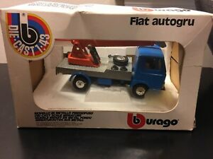 Burago #1502 Fiat Autogru Mobile Crane - Scale 1:43 - Die Cast Model Boxed!