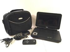 """RCA Model-DRC6309 Portable Rechargeable 9"""" DVD Player w/Remote-Cords-Padded Case"""