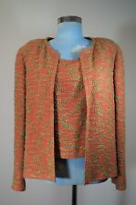 CHANEL 99A 1999 Autumn Collection Red/Green Tweed Twin Set Size 10/42