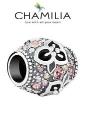 Genuine CHAMILIA 925 sterling silver Swarovski GARDEN TREASURE flower charm bead