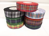 2 metres or 25 metres 38mm Tartan Ribbon double sided scotish Roll UK VAT Reg