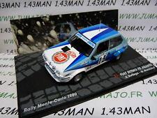 voiture 1/43 IXO Altaya Rallye FIAT Ritmo 75 abarth monte Carlo 1980 Bettega