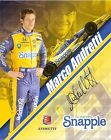 2014 MARCO ANDRETTI signed INDIANAPOLIS 500 PHOTO CARD POSTCARD INDY CAR hero wC