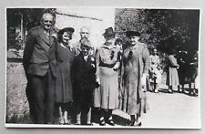 1947 B/W Photograph. Mostly Elderly Guests at a Wedding. British Post-War Life