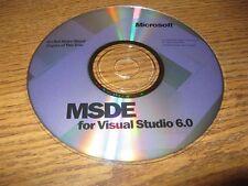 Microsoft MSDS For Visual Studio 6.0 Software CD