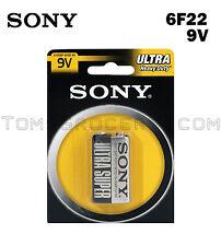 SONY ULTRA 9V 6F22 PP3 MN1604 1604D Heavy Duty Battery EXP:2020