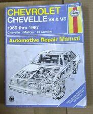 Chevorlet Service Manual Chevelle Malibu El Camino 69 - 87