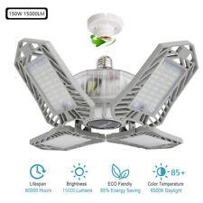 150W Led Garage Light Bulb Deformable Ceiling Fixture Lights Shop Workshop Lamp