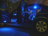 7x Illuminazione per Interni Set Blu Peugeot 208 Pacchetto-Luce Interna