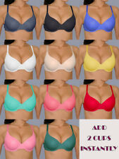 32 34 36 38 A B C D VERY SEXY MAXIMUM CLEAVAGE BODY ADD 2 CUP Sizes Push Up BRA