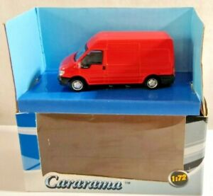 CARARAMA 1:72 SCALE FORD TRANSIT VAN - RED - #19222 - BOXED