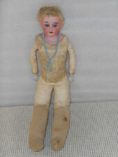 """17"""" Peter Scherf GERMAN BISQUE DOLL Kid Leather Open Mouth Germany 1899 5/0?"""