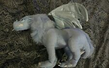 "DRAGONOLOGY 16"" Blue FROST DRAGON Sababa Toys Poseable Stuffed Plush 16"" EUC"