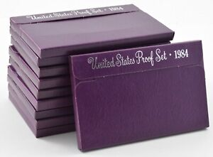 Lot of 10 Sets - 1984-S US Mint Proof Cent Nickel Dime Quarter Half Dollar *0202