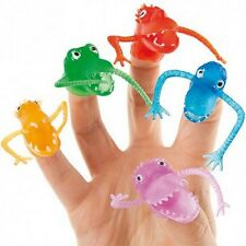 12 X  FINGER PUPPETS FRIGHT MONSTER BOYS GIRLS TOYS BIRTHDAY PARTY BAG FILLERS