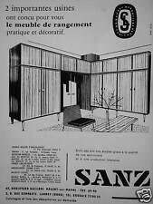 PUBLICITÉ SANZ LE MEUBLE DE RANGEMENT PRATIQUE ET DÉCORATIF LANNOY - ADVERTISING