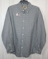 The Foundry Supply Co. L/S  Blk/Wht/Gray Checks Men's BF Big & Tall Size 2XL