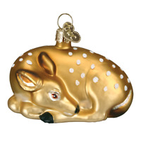 Old World Christmas FAWN (12201)N Glass Ornament w/ OWC Box