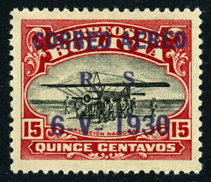 BOLIVIA #C14 Airmail GRAF ZEPPELIN Issue Stamp Postage 1930 Mint VLH OG