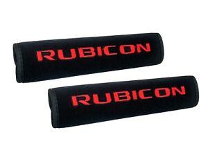 Red Rubicon Black Neoprene Car RV Seat Belt Cover Shoulder Pad Travel Bag Straps