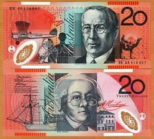 Australia, $20, 2006, Polymer, P-59d, UNC > Airplane, Boat