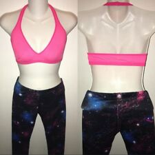 Sport Wear Gym Gear Outfit Sports Bra And Leggings pink / galaxy
