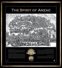 THE SPIRIT OF ANZAC SANDS MEDALLION LIMITED EDITION GALLIPOLI FRAMED PRINT